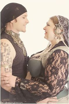 Husband and wife duo, Erik and Sarah of Boheme Tribal Belly Dance at Tribal Revolution - Taken by The Dancer's Eye Photography