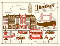 London. #art #print #graphics #london #england