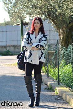 Aztec Cardigan - Cardigans - Knitwear - Tops - Clothing