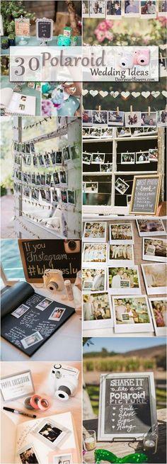 unique wedding ideas - Polaroid wedding guestbook ideas / http://www.deerpearlflowers.com/creative-polaroid-wedding-ideas/2/