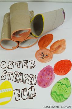 Ostereier Stempeln - Basteln mit Kleinkindern und Kindergartenkindern Easter eggs stamp DIY with chi Easter Crafts For Kids, Toddler Crafts, Children Crafts, Egg Stamp, Home Grown Vegetables, Creative Thinking, Spring Crafts, Handicraft, Decoration