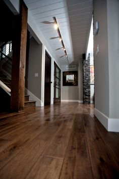 Red Oak Floor Stained Minwax Dark Walnut Greatroom