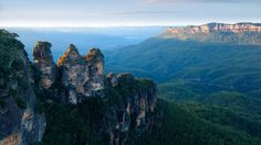 Just inland from the iconic Sydney skyline lies a vast national park filled with some of Australia's greatest natural gems. The Blue Mountains, with their lush gum trees and sandstone mountains, provide a plethora of spectacular views. The Three Sisters (pictured) are the area's best-known sight. (Pete Seaward)
