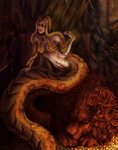 Heroes of Might and Magic III / medusa Arte Digital Fantasy, New Fantasy, Fantasy Girl, Dark Fantasy, Female Monster, Fantasy Monster, Monster Art, Mythological Creatures, Fantasy Creatures