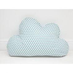 Poduszka Chmura niebieskie trójkąty