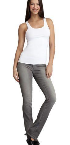410e4d5f419e1 Yummie Tummie Straight Leg - Light Gray - The Blues Jean Bar