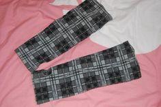 Grey tartan arm warmers (short- elbow length)