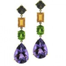 18k Multi Color Gemstone Earrings from Joon Han at Maurice Badler Fine Jewelry, 485 Park Ave (bet. 58th-59th St) or online at www.badler.com or call us at 800-622-3537