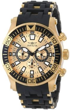 Gold watches : Gold watches for men Invicta