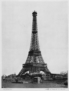 Tour Eiffel (almost completed) - Paris 1889