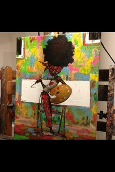 Anyone who can identify the #artist? #naturalhair #art #teamnatural #naturallyluvly