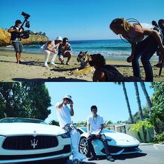 """A couple behind the scenes pics from the ""Fire"" music video shoot!! Can't wait to watch it with all of you!! Also the lyric video comes out tomorrow!!!"""