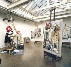 Paula Rego's studio