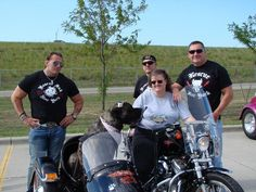 Bev & Bertha with Rescue Ink Guy's !