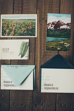 botanical invitations // photo by Sean Flanigan // http://ruffledblog.com/los-gatos-woodsy-wedding