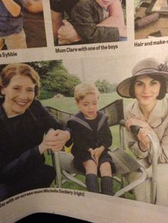 downton abbey season 5: little george with mum lady mary and mrs hughes