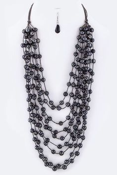 Beautiful Beads Layer Fashion Necklace Set!! These Beads Layer Fashion Necklace Set are a MUST HAVE! Designed with premium high quality material! You can get this necklace beautiful , but only for a l