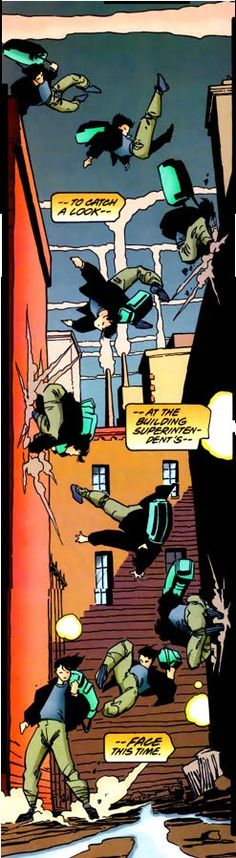 Nightwing comic panel by Scott McDaniel - That's how normal people get down. Right? XD