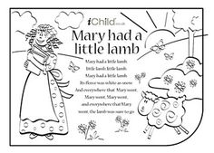 Mary Mary Contrary Nursery Rhyme Coloring Page With