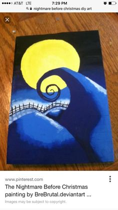Nightmare Before Christmas Canvas Painting Ideas by Lori Morales Christmas Paintings On Canvas, Cute Canvas Paintings, Easy Canvas Painting, Christmas Canvas, Diy Painting, Painting & Drawing, Canvas Art, Christmas Ornaments, Disney Canvas