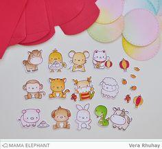 mama elephant | design blog: Lunar Extras and Lucky Envelope with Vera