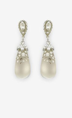 Alexis Bittar Clear Lucite Earrings
