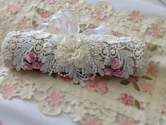 My shabby chic stick pin roll inspired by Jeanette