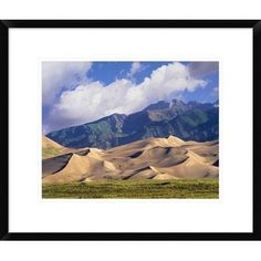 Global Gallery Sand Dunes with Sangre De Cristo Mountains in the Background, Great Sand Dunes National Parkand Preserve, Colorado by Tim Fitzharris...