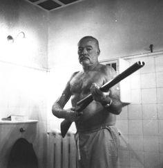 Ernest Hemingway killed bears, fought in wars, crashed planes, had an FBI file on him