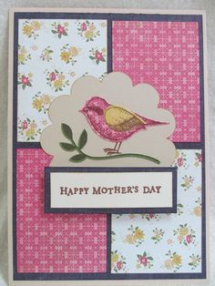 Mothers Day Cards Handmade | Savvy Handmade Cards: Mother's Day Bird Card
