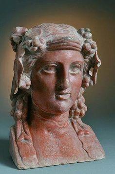 *POMPEII, ITALY ~ Relief of Minerva: Herculaneum.bust of Terracotta Dionysos - found Pompei, Roman period, Italy Ancient Pompeii, Pompeii And Herculaneum, Ancient History, Art History, Carthage, Art Romain, Pompeii Italy, Roman Sculpture, Roman Art