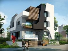 A great ultra modern bungalow design gives a complete new style statement to your dream project. Bungalow Interiors, Modern Bungalow, Bungalow House Design, House Front Design, Roof Design, Modern House Design, Exterior Design, Dream House Plans, Modern House Plans