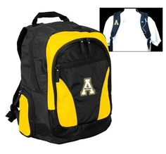 NCAA Appalachian State Mountaineers Team Backpack by Logo. $24.43. Take your pride to college or wherever you go! Main compartment provides ample storage for books in addition to a padded area that will hold up to a 17-Inch laptop. Pockets for MP3 player, keys, water bottles, pens, etc.