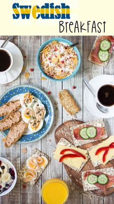 A look at the common Swedish breakfast which features open sandwiches, caviar, eggs and porridge! | cookingtheglobe.com