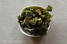 Kale Tahin chips