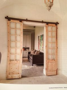 Doors for study with frosted glass