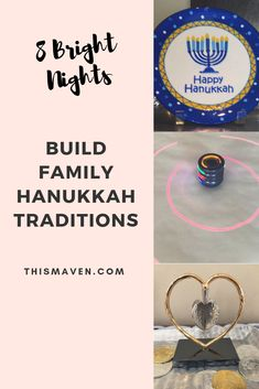 Simple ways to build Hanukkah traditions that make Hanukkah even more special for your family. Hanukkah 2019, Feliz Hanukkah, Happy Hanukkah, Hanukkah Crafts, Hanukkah Food, Hanukkah Decorations, Hanukkah Menorah