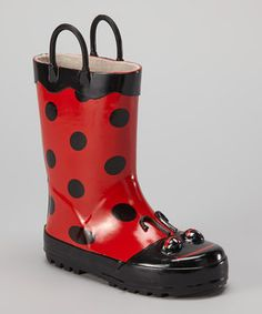 Splish-splash! Stomping through puddles is a gas, but the damp aftermath can rain on some parades. Luckily, these sweet little rain boots prep a little one for everything from a drizzle to a downpour. Handles make for easy on and off, while grippy soles keep steps steady and sound until Mr. Sun comes back 'round.