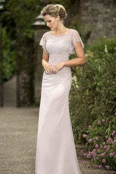 Elegant Round Neck Bridesmaid Dresses, Two Pieces Bridesmaid Dresses, Long…