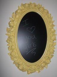 Easy DIY Chalkboard mirror tutorial!