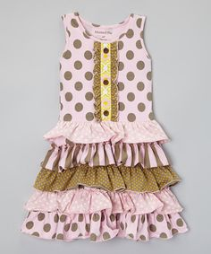 Look at this Mustard Pie Sugar Pink Dot Dress - Infant, Toddler & Girls on #zulily today!