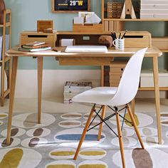 Home office retro desk | Home office designs | Retro decorating ideas | PHOTO GALLERY