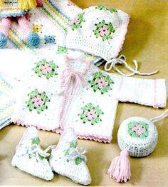 Grannys Square para niños y bebés | Grannysquare.eu Baby Shoes Pattern, Shoe Pattern, Baby Patterns, Crochet Patterns, Crochet For Kids, Crochet Baby, Crochet Bikini, Cute Little Baby, Pretty Dolls