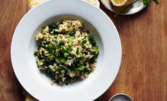 On The Menu: Brown Rice Pilaf With Asparagus & Pistachio - Clementine Daily
