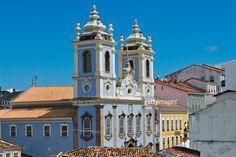 Church of Nasso Senhor Do Rosario dos Pretos in Pelourinho District, Salvador (UNESCO World Heritage site), Bahia State, Brazil