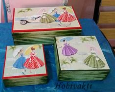 ♥♥ Hobi Vakti ♥♥: Ahşap Takı Kutuları