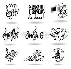 Different Kind Of Music Notes As Symbol Of Sheet Music