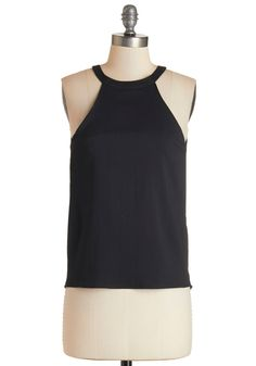 Work of Montmartre Top. This breezy black tank is the cherry on top of your perfectly concocted cocktail. #black #modcloth