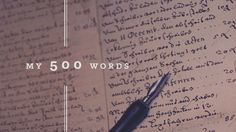 """My 500 Words A Writing Challenge My 500 Words My 500 Words is a 31-day challenge created by Jeff Goins, designed to help you answer the question, """"How to be writing every day?"""" This good exercise will help discipline you on your chosen path to become the best writer you can be. The..."""