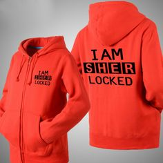 I am Sherlock logo new style zip-up hoide jacket